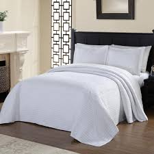 american traditions tile quilted white bedspread