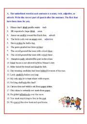 nouns worksheet by sharmkish