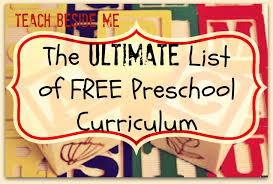 ultimate list of free preschool curriculum resources teach beside me