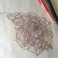 chrysanthemum tattoo design idea