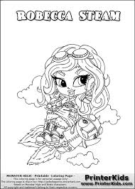 monster high chibi coloring pages monster high robecca coloring pages getcoloringpages com