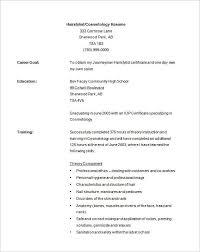Hairdresser Resume Hairdresser Resume Examples Salon Resume Salon Cosmotology Resume