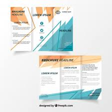 creative trifold flyer template vector free download