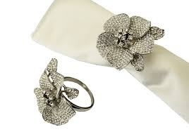 how to set a table with napkin rings set of 4 jeweled silver napkin rings napkin rings and holders