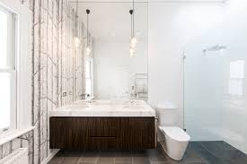 victorian home gets a modern renovation birchwood wallpaper bathroom ideas victorian home modern renovation interior design