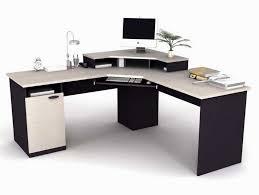 Cool Computer Desk Furniture Corner Black Wooden Home Office Computer Desk With Lcd