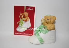 hallmark 2003 baby s ornament shoe qxg8719