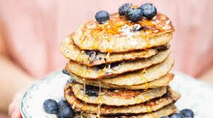 banana and blueberry pancakes recipes purewow
