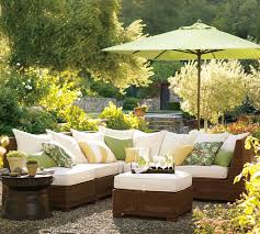 Outdoor Living Room Set Living Room Palmetto All Weather Wicker Sectional By Pottery