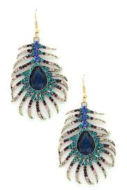 peacock feather earrings eye candy los angeles peacock feather earrings nordstrom rack