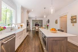 two tone kitchen cabinets and island white kitchen with drift wood accent island in randolph