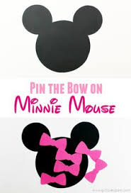 pink minnie mouse bow cut outs printabletreats minnie