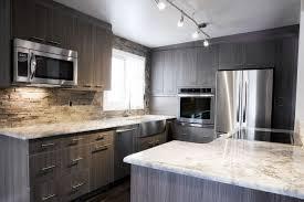 Gray Kitchen Island Countertops Backsplash Grey Metal Single Bowl Sink Gray