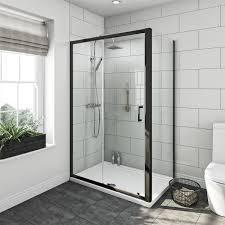 Shower Enclosure Bathroom Suites Mode Carter Ensuite Suite With 6mm Black Enclosure 1200 X 800