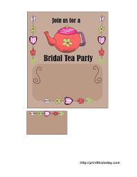printable bridal shower invitations free printable bridal shower tea party invitations