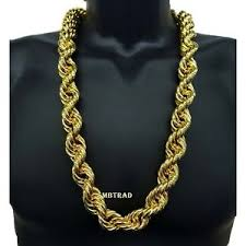 big rope necklace images 14k gold plated necklace rope chain 30 quot inch length big fat thick jpg