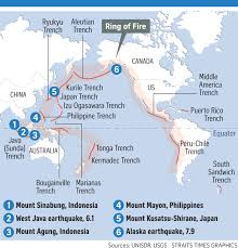 Ring Of Fire Map Activity Along Pacific Ring Of Fire Normal Say Experts World