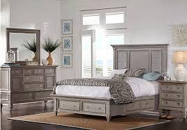 picture of belmar gray 5 pc queen storage bedroom from queen