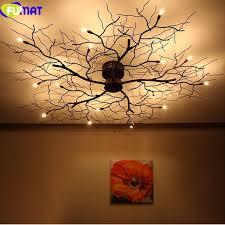 Twig Light Fixtures Fumat Modern Branch Chandelier Globe Creative Black Metal Twig