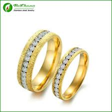 saudi gold wedding ring new style personalized scrub matte stainless steel saudi arabia