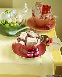 easter tea party tea party basket martha stewart