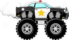 monster trucks clipart monstertruck police car 4x4 cartoon isolated on white background
