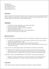 Gis Resume Sample by Professional Guest Services Associate Templates To Showcase Your