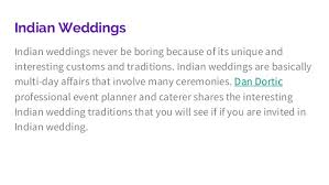 dan dortic shares 4 indian wedding traditions list