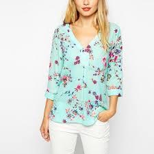 sleeve chiffon blouse design chiffon blouses 3 4 sleeve v neck solid green blouses