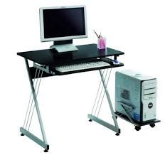 amazon lexmod black office computer desk with rollout tray only