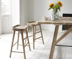 Wooden Breakfast Bar Stool Bumble In Smoked Oak Solid Oak Stools And Kitchens