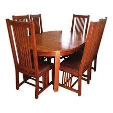Mission Oak Dining Chairs Restoration Hardware Mission Style Oak Dining Set Set Of 7