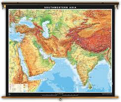Physical Africa Map by Klett Perthes Extra Large Physical Map Of Southwestern Asia