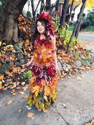 How To Make Your Own Halloween Costume by Make Your Own Mother Nature Leaf Dress Hippie In Disguise