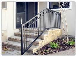 outdoor stair railing rustproof wrought iron railings metal