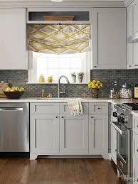 gray backsplash kitchen light gray wooden kitchen cabinet contemporary steel stove