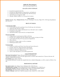 communication skills resume exle skills cover letter fungram co