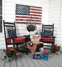 4th Of July Bunting Decorations Trees N Trends Blog Patriotic Front Porch Deco Ideas Fourth