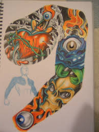 chest and half sleeve tattoos melissa tattoo design tattoo designs by bernard pate