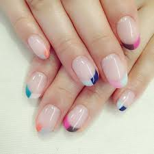 best 25 colored french nails ideas on pinterest colorful french