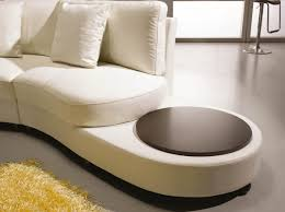 2229b modern black leather sectional sofa