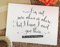 cards to ask bridesmaids asking of honor etsy