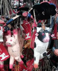 tree pig ornaments every day i see a cow