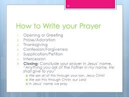 prayer ppt