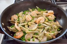 shrimp and artichoke casserole shrimp and artichoke pasta recipe simplyrecipes com