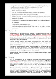 health u0026 safety policy example to download