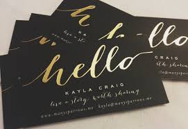 gold foil business cards lilbibby