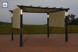 Motorized Pergola Cover by Pergola Canopy Stunning Replacement Canopy For Toulon X Pergola