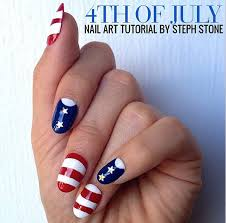 patriotic nail tutorial u2014 get the 4th of july look u2013 hollywood life