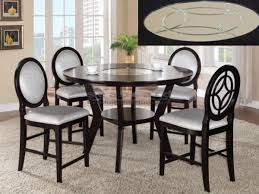 counter height dining room sets gianna 5 piece counter height dining set in espresso